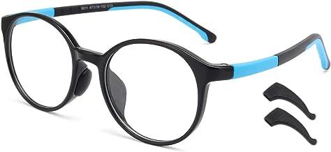 Livho Kids Blue Light Blocking Glasses, Computer Gaming TV Glasses for Boys Girls Age 3-15 Anti Glare & Eyestrain & Blu-ra...