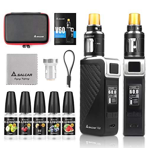 Salcar V60 E Zigarette/ E Shisha Starterset und 5x10ml E liquid || V60...