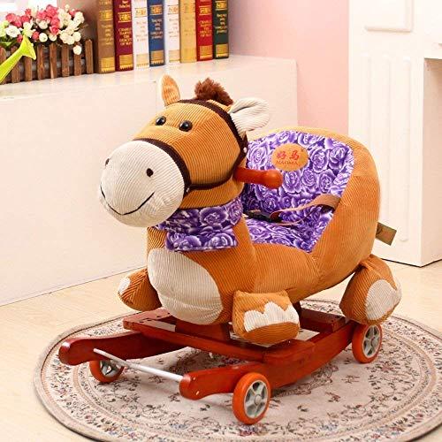 Lounge Chair Kid 's Juguetes for los Regalos de la niñez temprana Elefante Mecedora oscilante del bebé del Caballo del bebé con el sofá de la música de heces (Color : 4)