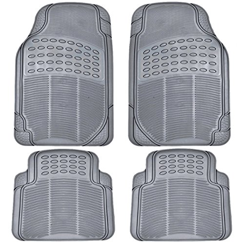 BDK All Weather Rubber Floor Mats for Car SUV & Truck - 4 Pieces Set (Front &...