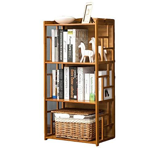 Vintage natuurlijke bamboe boekenkast boekenkast, gemakkelijk studentenrek moderne creatieve kinderen opslag kasten in huis keuken boek plank voor kinderen