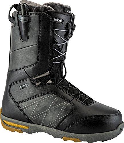 Nitro Snowboards Herren Anthem TLS 19' Leichter Snowboardschuh Snowboardboot mit Schnellschnürsystem Allround Freestyle Freeride Softboot Warm Boots, Black-Charcoal, 30.5