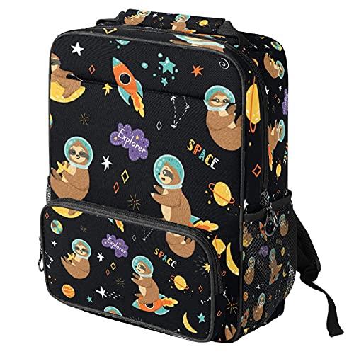 Lässiger Tagesrucksack, Laptop-Rucksack, modische Arbeitstasche mit Linien- und Farbmuster, Druck für Damen/Mädchen/Herren Gr. One size, Mehrfarbig 6