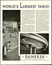 World's Largest Table Shown in 1930 Danersk Furniture Co. Advertisement Original Paper Ephemera Authentic Vintage Print Magazine Ad/Article