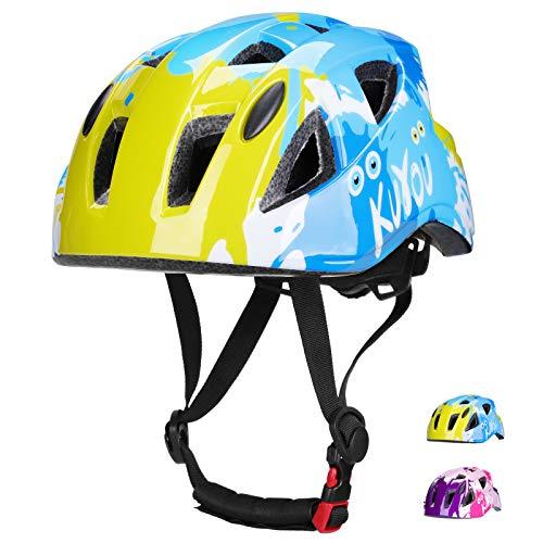 Kinderhelm Fahrradhelm Rollerhelm ABS Schale Kinder Skaterhelm Verstellbar CE-Zertifizierung für Fahrrad Skateboard Scooter BMX 3-13 Jahre Alt Junge Mädchen (Blau 1)