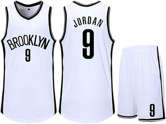 JSMCWY Clippers   2 courte de Basketball Deandre Jordan T-Shirt en Jersey Gilet pour Enfant Basket-Ball vêteHommest de Sport vêteHommests à séchage Rapide,blanc,S