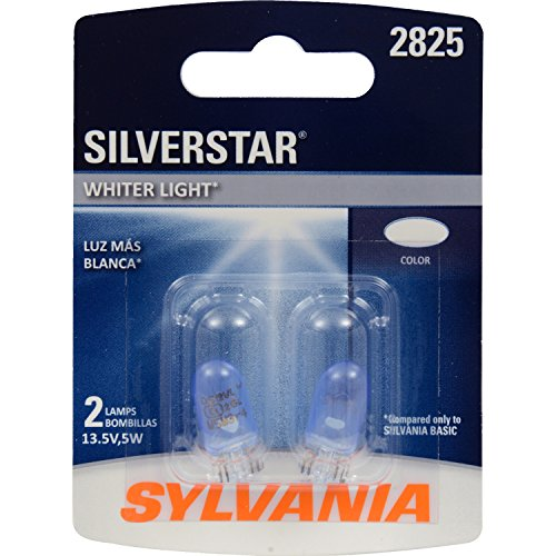 SYLVANIA 2825ST.BP2 SilverStar High Performance Miniature Bulb, (Contains 2 Bulbs)