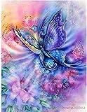 JASIOHCDSPintura de Bricolaje por números Mariposa Pintura acrílica Imagen Moderna Decoración del hogar para Sala de estar-1216 Pulgadas (Sin Marco) Pintura al óleo Pintada a Mano