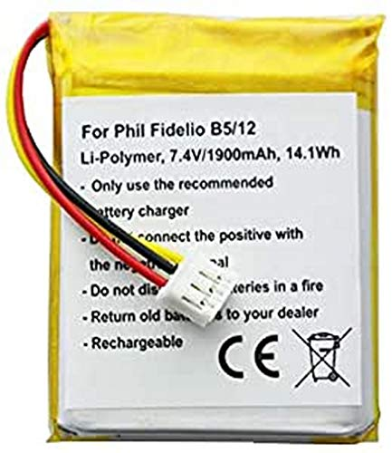AccuCell - Batería para Philips Fidelio B5/12 (7,4 V, 1900 mAh, 14,1 WH)
