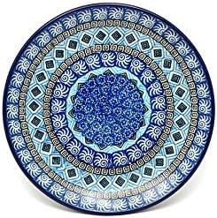Polish Pottery Plate - Salad Dessert 3 Sky 7 4