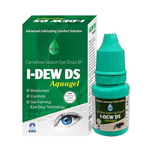 I-Dew DS Night-Time Aqua Gel Eye Drops for Dry Eyes, Preservative-Free on The Eye Surface, Refresh Eye Drops for Contact Lens Users and Red Eyes, i dew care