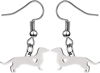 Soul Statement Dachshund Dangle Earrings for Women & Girls Cute Doxie Gifts Dog Mom Gift Ideas