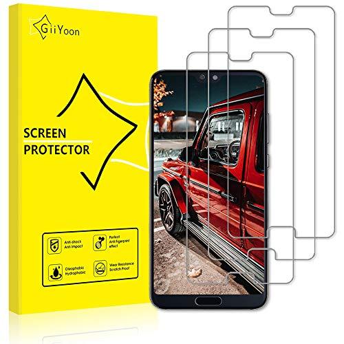 GiiYoon Pacco da 3 Pellicola Protettiva in Vetro Temperato per Huawei P20 PRO - Durezza 9H, Anti graffio, Senza Bolle, Alta Definizione, Facile da Pulire