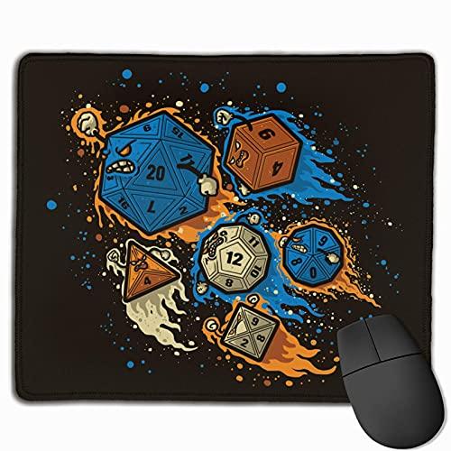 Alfrombrillas DND 20 Dice Alfombrilla de ratón para Juegos con Base de Goma Antideslizante Alfombrilla de ratón Impermeable para Oficina en casa 25x30cm