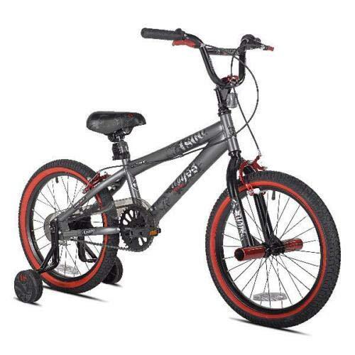 Bike Boys Kids Bicycle BMX Steel Frame 18-Inch Cycling w/Training Wheels Pedal