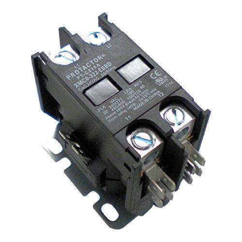 Protactor 2 Pole 32 Amp Heavy Duty AC Contactor sustituye prácticamente todos los residenciales 2 Pole Modelos 30 Amps o menos