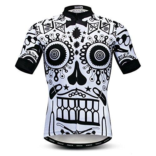 Herren Radtrikot Kurzarm Outdoor Pro Biken Riding Bekleidung Mountainbike Trikots Atmungsaktiv Totenkopf T-Shirt Tops -  -  XL (Brust 114/ 120 cm)
