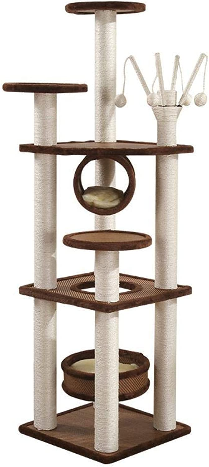 Axiba Play Towers Trees for Cats Cat climb frame cat nest cat Tree sisal cat platform solid wood for sleeping games 45cm 45cm  158cm
