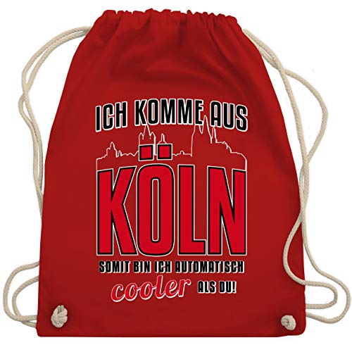 Städte - Ich komme aus Köln - Unisize - Rot - tasche koeln - WM110 - Turnbeutel und Stoffbeutel aus Baumwolle
