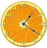 Tomate Vegetal Cocina silencioso sin tictac Redondo operado a batería Reloj de Pared Colgante Hecho a Mano para decoración de cabaña de Oficina de Dormitorio
