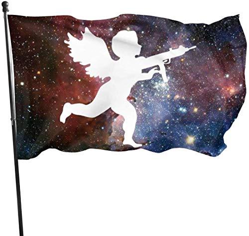 Viplili Banderas Vanilla Ice Cupid Logo Flag 3x5 FT Garden Flag Tough The Strongest, Longest Lasting Flag National Flag Outdoor Flags