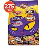 M&M'S Peanut, SNICKERS, TWIX, 3 MUSKETEERS & SKITTLES Cauldron Halloween Candy Variety Mix, 96.…