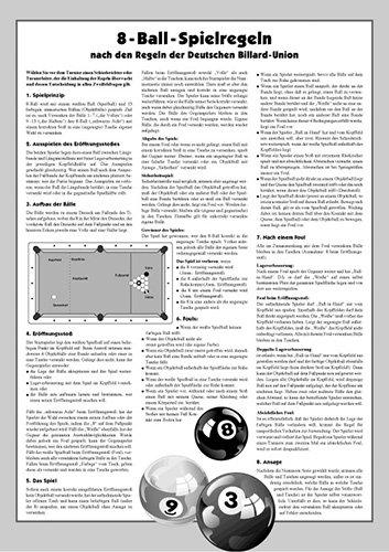 Turnier-Regeln Poolbillard 8-Ball