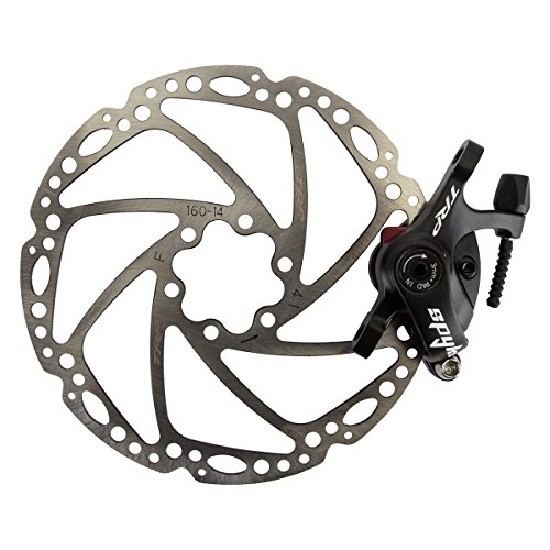 TRP Spyke Alloy Mechanical Disc Brake Caliper includes 160mm Rotor, Black by TRP