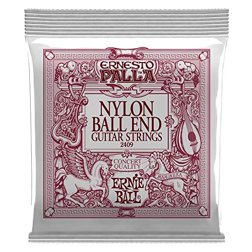 Ernie Ball Ernesto Palla Black & Gold Ball-End Nylon Cuerdas para guitarra clásica