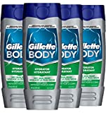 Gillette Body Hydrator Body Wash for Men, Dry Skin Relief, 16 Fluid Ounce (Pack of 4)