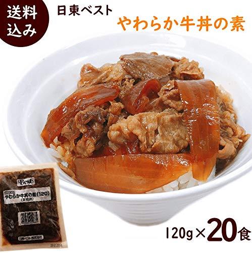 日東ベスト【やわらか牛丼の素】(冷凍)120g×20袋