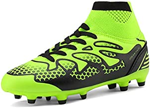 DREAM PAIRS Little Kid 160858-K Lemon Green Black Fashion Soccer Football Cleats Shoes Size 13 M US Little Kid