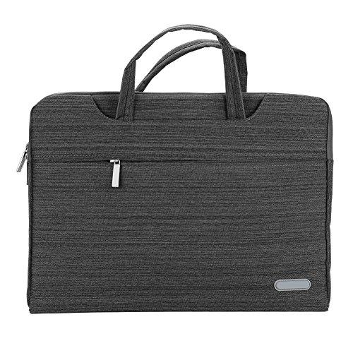 Bolsa para portátil de 15 pulgadas, multifunción, con asa, impermeable, maletín para tablet, bolsillo ajustable, correa para el hombro, para el portátil, para mujeres y hombres