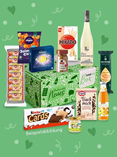 brandnooz - Geburtstagsbox   leckere Geschenkbox  Essen  Trinken  leckere Lebensmittelneuheiten von bekannten Marken   garantierter Warenwert von mind. 25€