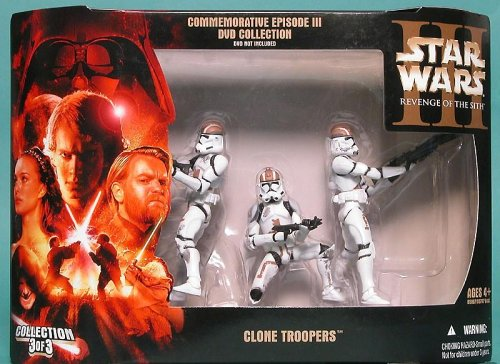 Star Wars Wal-Mart Exclusive Commemorative Episode 3 Brown Clone Troopers 3-Pack