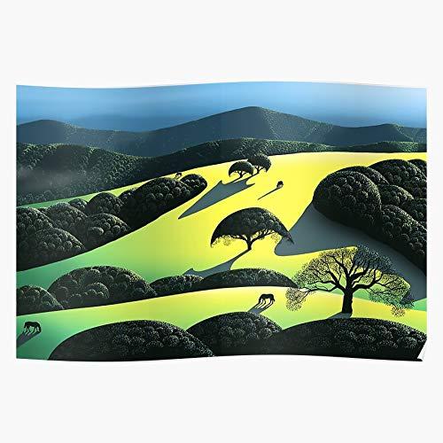Swedese Valley Sunset Horses Trees Earle Liz Eyvind Graphic Das eindrucksvollste und stilvollste Poster für Innendekoration, das derzeit erhältlich ist