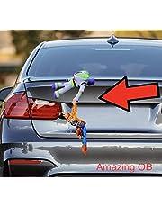 Aトイストーリー Toy Story フィギュアウッディ バズ 車 カー アクセサリー ぬいぐるみ 35cmm Amazing OB