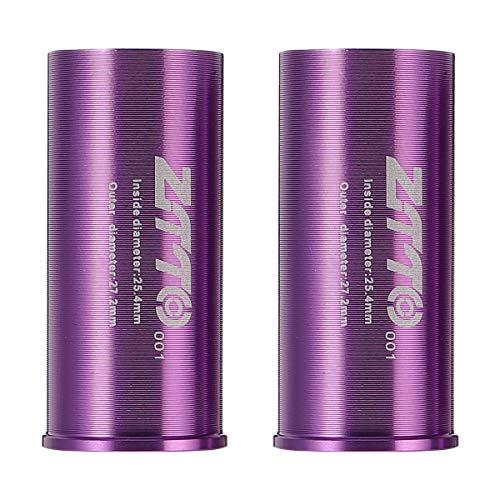 Abaodam 2 adaptadores de tubo de aleación de aluminio para tija de sillín de 25,4 mm a 27,2 mm