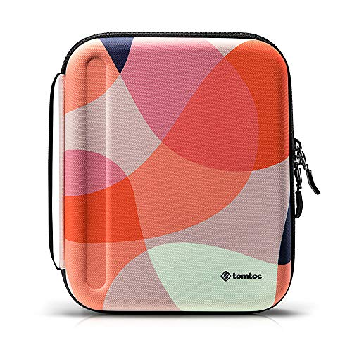tomtoc Portfolio Case for 2020 12.9-inch iPad Pro 3rd and 4th Gen, Business Briefcase Organizer Bag for Charger, iPad Pencil, Cable, Carrying Storage Padfolio with Tablet Sleeve Fit Surface Pro 12.3