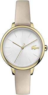 Lacoste Women's White Dial Taupe Leather Watch - 2001126