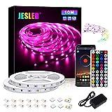Tiras LED, JESLED 10M Tiras de Luces LED Sincronización de música Bluetooth, control de...