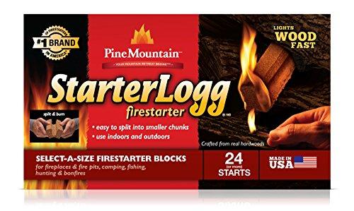 Pine Mountain StarterLogg Select-A-Size Firestarting Blocks, 24 Starts Firestarter Wood Fire Log for Campfire, Fireplace… 4