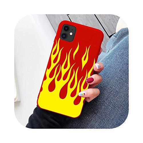 Funda de teléfono para iPhone 6, 6S, 7, 8 Plus, X, XR, XS Max 11, Pro Max SE 2020, silicona suave, color rojo