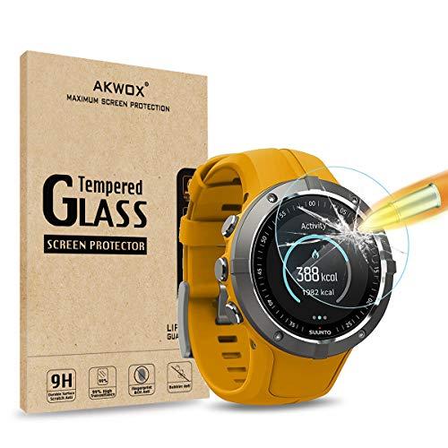 AKWOX [4 Unidades] Protector de Pantalla para Suunto Spartan Trainer Wrist HR, [9H Dureza] Cristal...