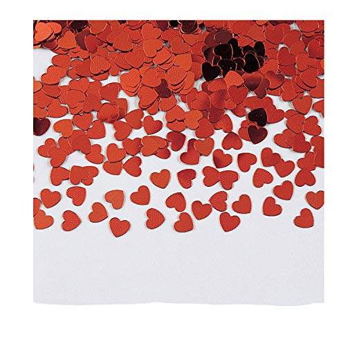 Creative Converting Heart Foil Confetti, Any, Red