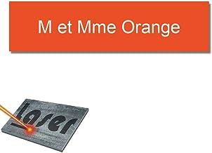 Mygoodprice Naambordje, gegraveerd, 10 x 2,5 cm, zelfklevend, 1 tot 3 regels, oranje