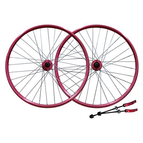 TYXTYX Bicycle Wheel 26' Bike Wheel Set MTB Double Wall Alloy Rim Disc Brake 7-11 Speed Palin Bearing Hub Quick Release 6 Colors