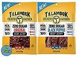 Tillamook Country Smoker Zero Sugar Beef Jerky in Original and Black...