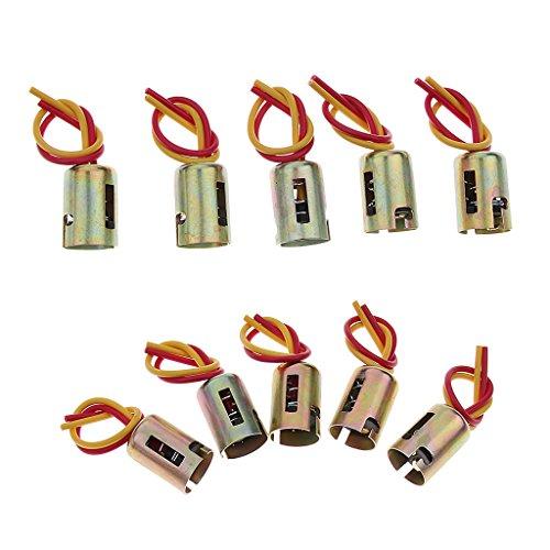 IPOTCH 10PCS Auto Car BAY15D Conector de Luz LED Socket con Soporte de Lámpara de Doble Cable