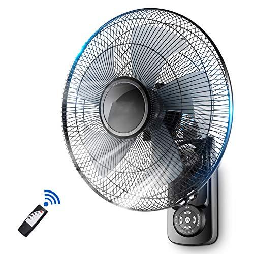 Ventilador de pared con Control Remoto/Ventilador oscilante de 3 velocidades Industrial silencioso para Oficina en el hogar/Temporizador 7.5H (tamaño: 16 pulgadas/18 Pulgadas)